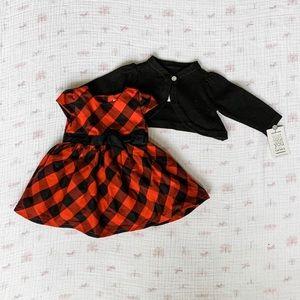 NWT Carter's Christmas Dress Set - Newborn